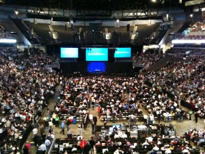 Packed audience at the 2010 Berkshire Shareholders Meeting